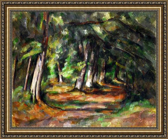 Paul Cezanne Forest Path Circa 1892 Framed Painting