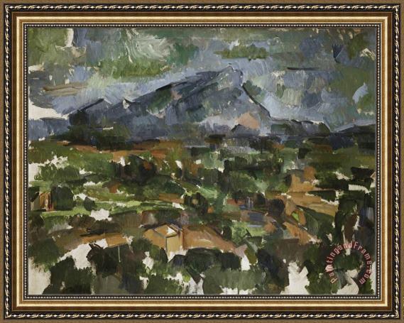 Cezanne Mont Sainte Victoire Seen From Lauves Mont Sainte Victoire Seen