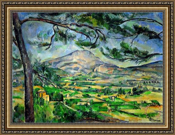paul cezanne mont sainte victoire with large pine tree circa 1887 framed print for sale