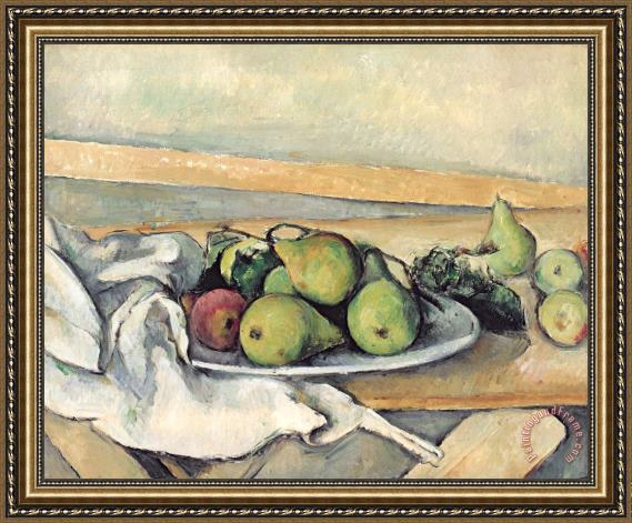 Paul Cezanne Still Life With Pears Framed Painting