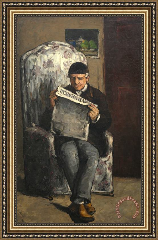 Paul Cezanne The Artists Father Reading L Evenement Framed Print