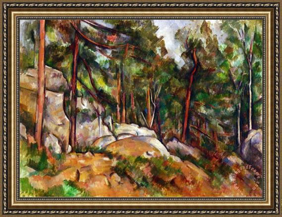 what is a good color to paint kitchen cabinets paul cezanne the rocks in the park of the chateau noir 28274