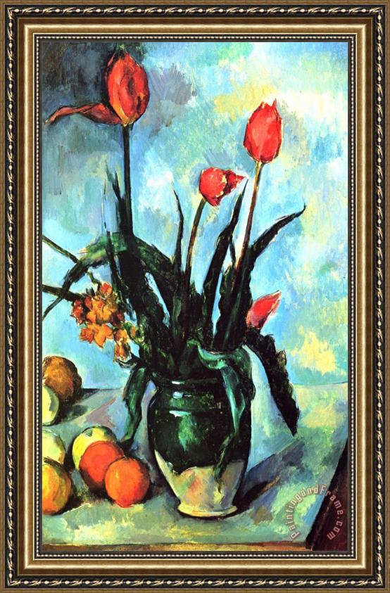 Paul Cezanne Tulips In A Vase Framed Print For Sale