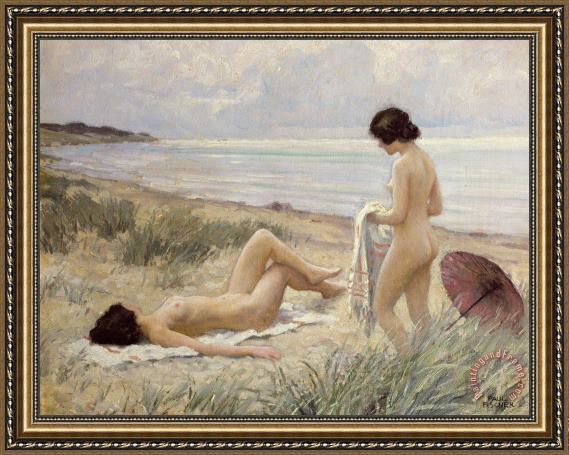 Paul Fischer Summer on the Beach Framed Print