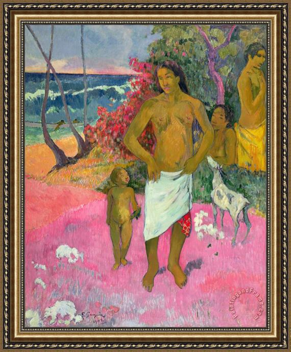 Paul Gauguin A Walk by the Sea Framed Print
