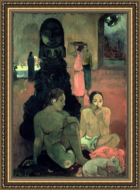 Paul Gauguin The Great Buddha Framed Print