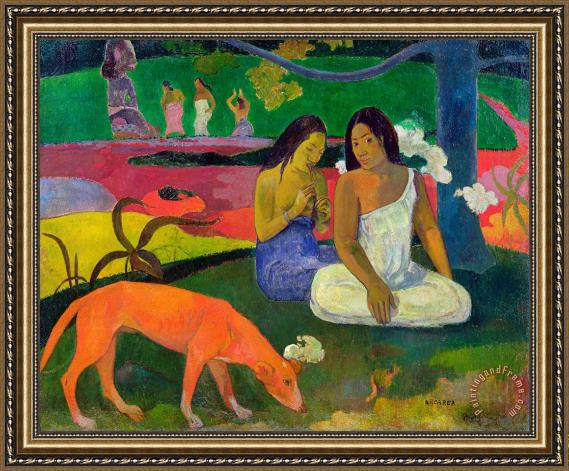 Paul Gauguin The Red Dog Framed Painting