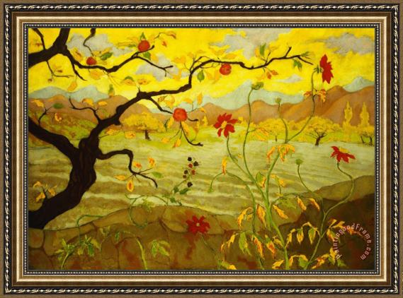 Paul Ranson Apple Tree with Red Fruit Framed Print