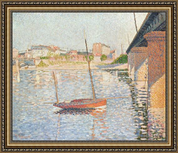 Paul Signac Le Clipper - Asnieres Framed Painting