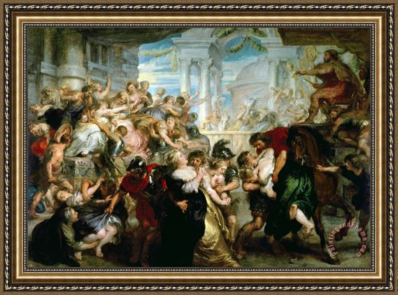 Peter Paul Rubens The Rape of the Sabine Women Framed Print