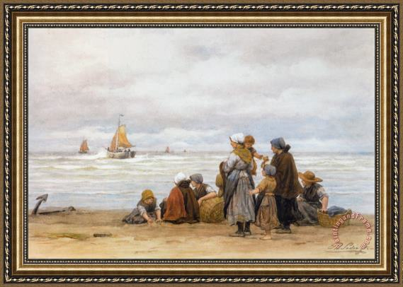 Philippe Lodowyck Jacob Sadee The Departure of The Fishing Fleet Framed Print