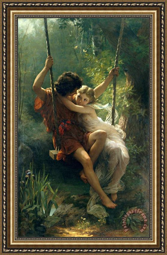Pierre Auguste Cot Springtime Framed Painting