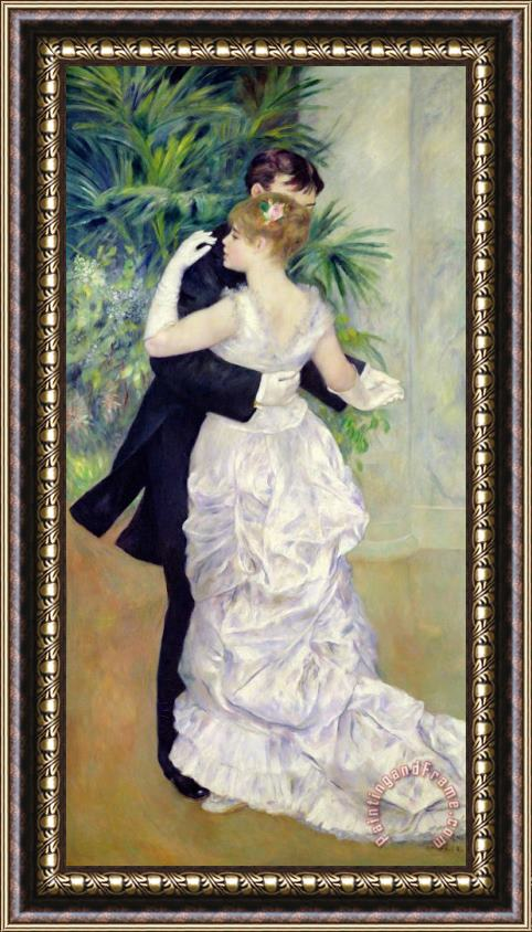 Pierre Auguste Renoir Dance in the City Framed Print