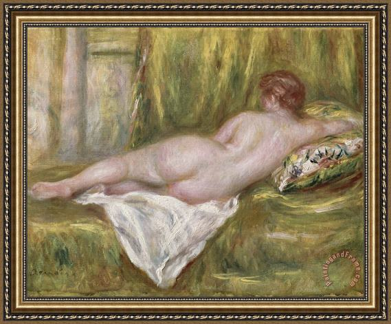 Pierre Auguste Renoir Rest after the Bath Framed Painting