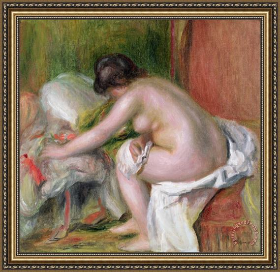 Pierre Auguste Renoir Seated Bather Framed Painting
