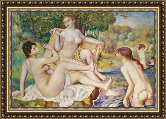 Pierre Auguste Renoir The Bathers Framed Print