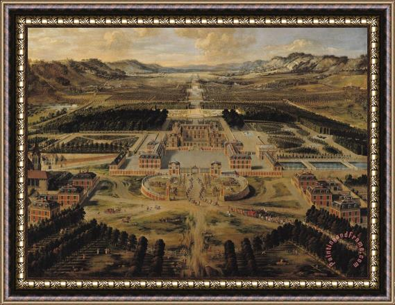 Pierre Patel Perspective view of the Chateau Gardens and Park of Versailles Framed Print