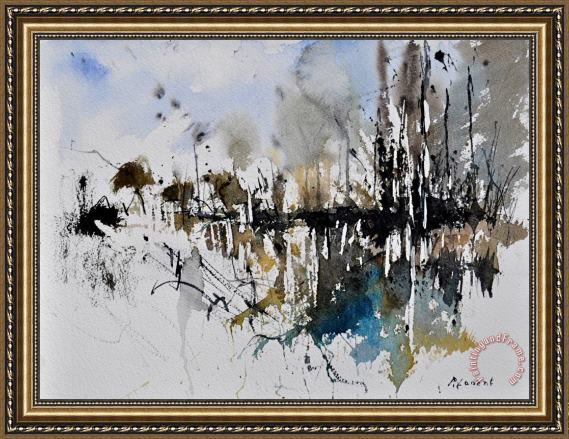 Pol Ledent Abstract Watercolor 012130 Framed Painting for sale ...