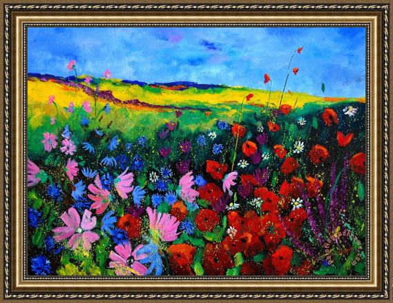 Pol Ledent Field flowers Framed Print