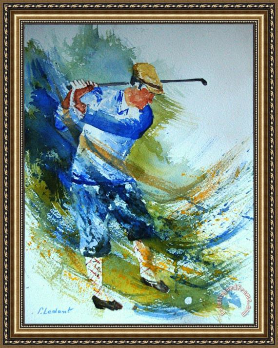 Pol Ledent Golf Player Framed Print
