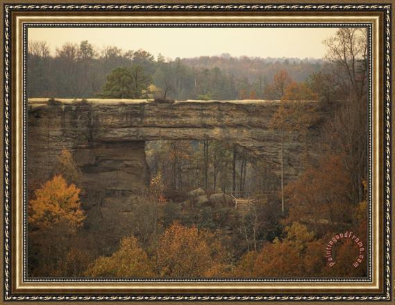 Raymond Gehman Natural 180 Foot Long 65 Foot High Sandstone Arch Framed Print