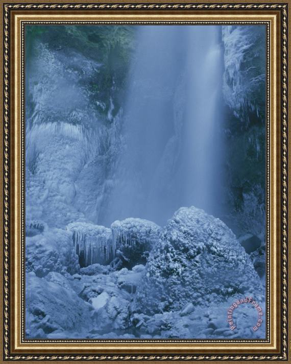 Raymond Gehman Tower Falls Winter Yellowstone National Park Wyoming Framed Painting