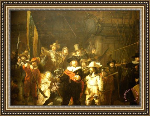 Rembrandt The Night Watch Framed Print For Sale