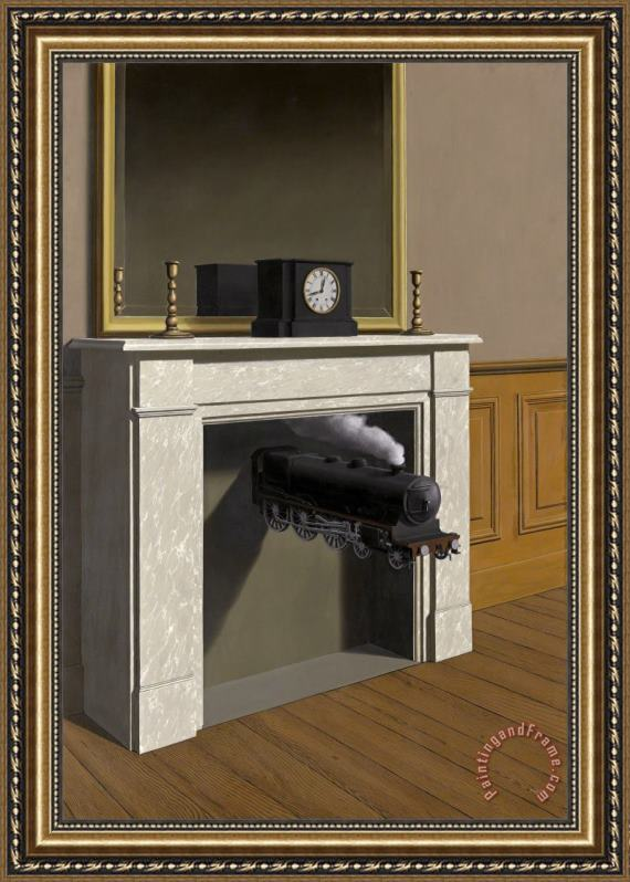 rene magritte Time Transfixed 1938 Framed Print