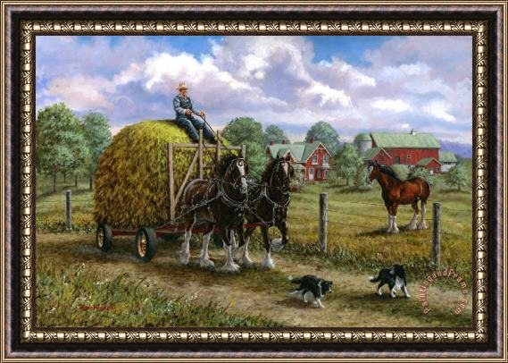 Richard De Wolfe Heading for the Loft Framed Print
