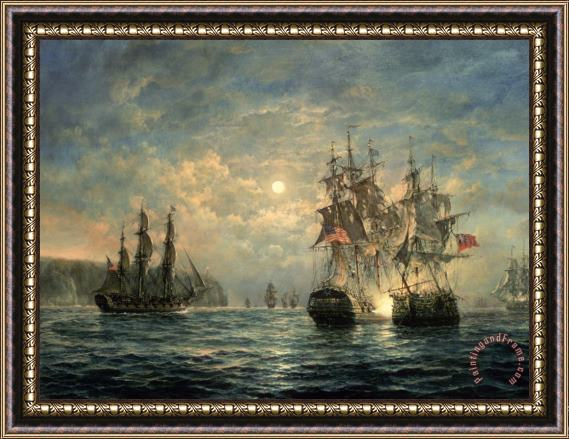 Richard Willis Engagement Between the 'Bonhomme Richard' and the ' Serapis' off Flamborough Head Framed Print