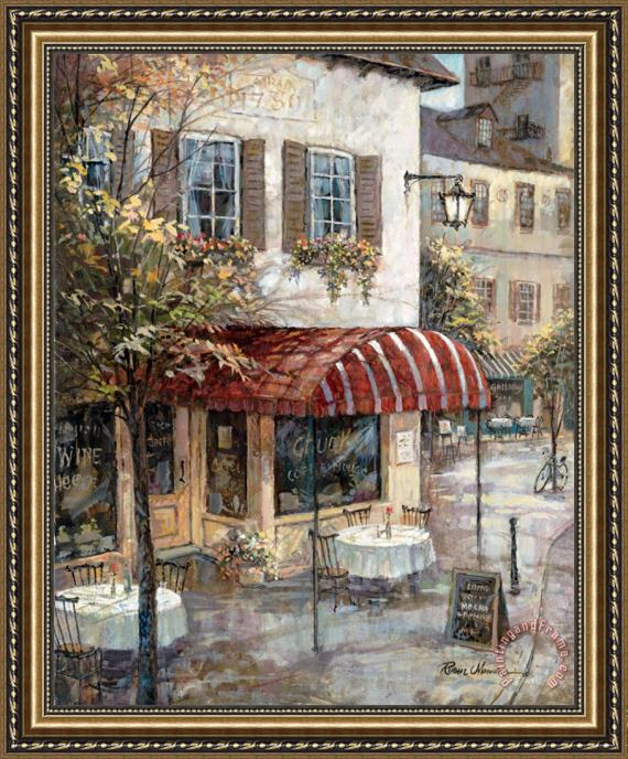 Ruane Manning Coffee House Ambiance Framed Print