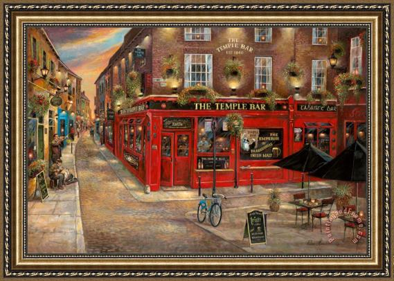 Ruane Manning Temple Bar Framed Painting