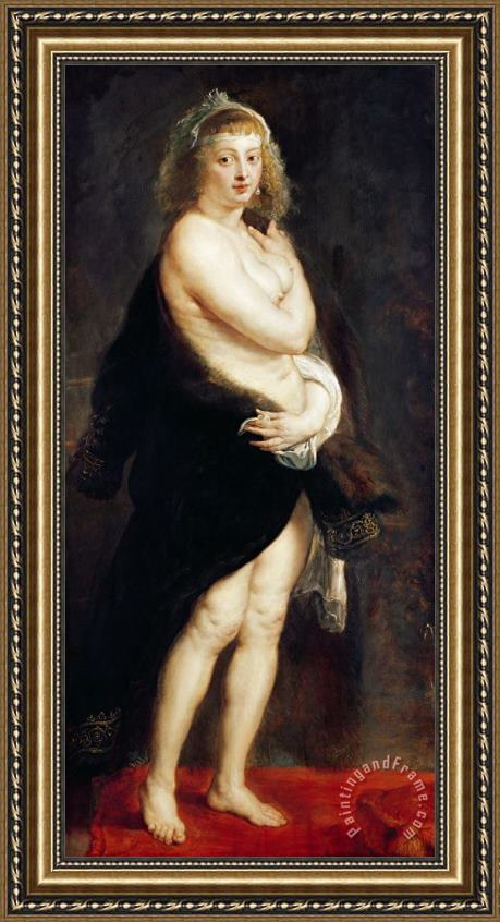 Rubens Helena Fourment in a Fur Wrap Framed Print
