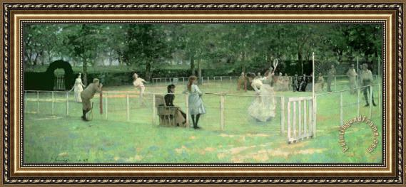 Sir John Lavery The Tennis Party Framed Print