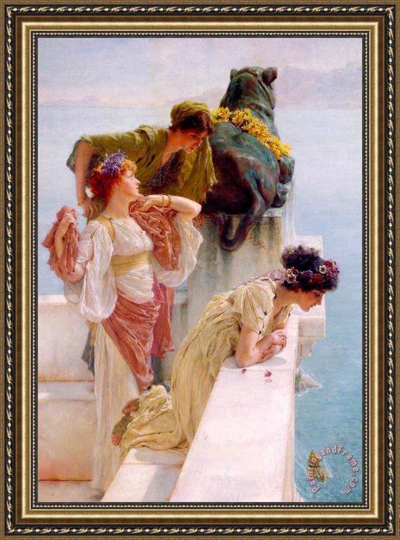 Sir Lawrence Alma-Tadema A Coign of Vantage Left Framed Print