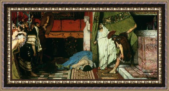 Sir Lawrence Alma Tadema A Roman Emperor Claudius Framed Painting For Sale Paintingandframe Com