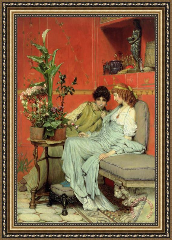 Sir Lawrence Alma-Tadema Confidences Framed Print