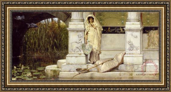 Sir Lawrence Alma-Tadema Roman Fisher Girl Framed Print