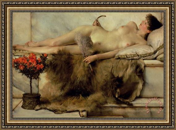 Sir Lawrence Alma-Tadema The Tepidarium Framed Print