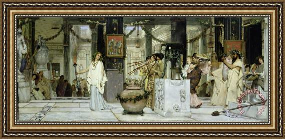 Sir Lawrence Alma-Tadema The Vintage Festival in Ancient Rome Framed Print