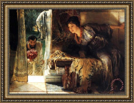 Sir Lawrence Alma-Tadema Welcome Footsteps Framed Print