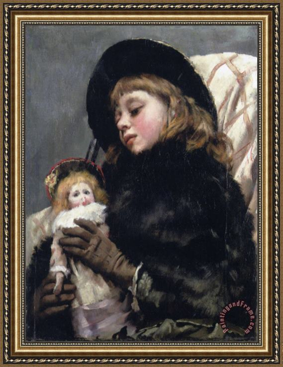 Thomas Benjamin Kennington Dolly And Me Framed Print