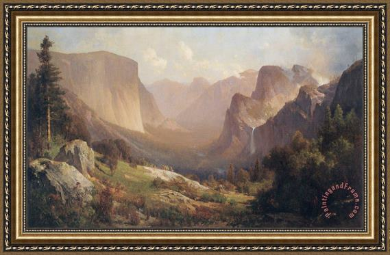 Thomas Hill View of Yosemite Valley Framed Painting