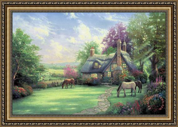 Thomas Kinkade A Perfect Summer Day Framed Print