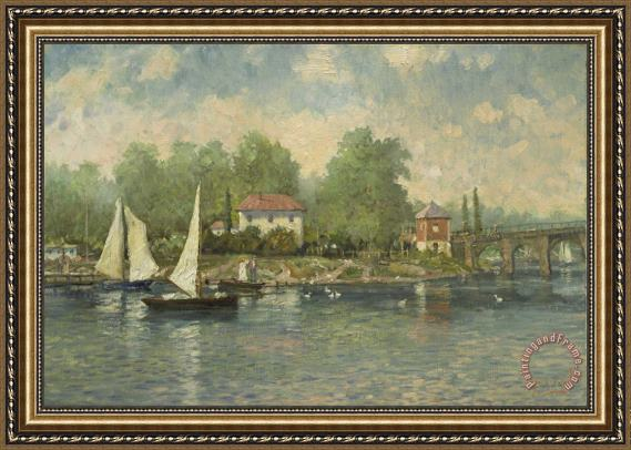 Thomas Kinkade A Summer's Morning Framed Print