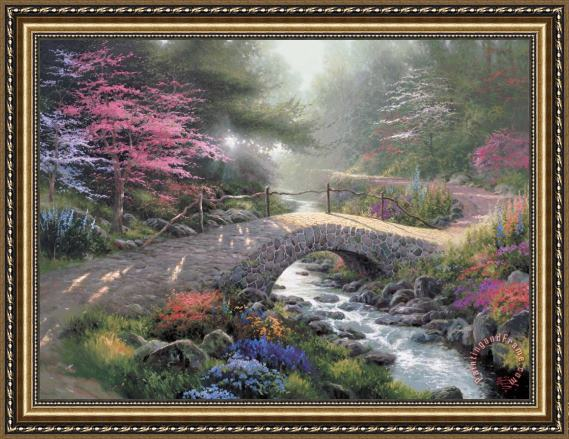 Thomas Kinkade Bridge of Faith Framed Painting