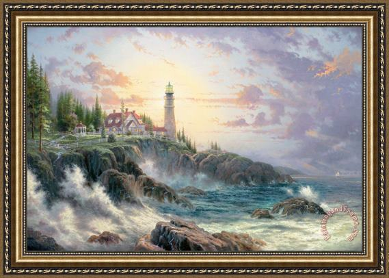 Thomas Kinkade Clearing Storms Framed Print