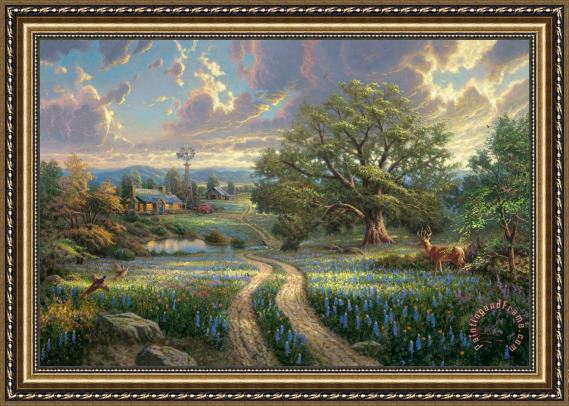 Thomas Kinkade Country Living Framed Painting