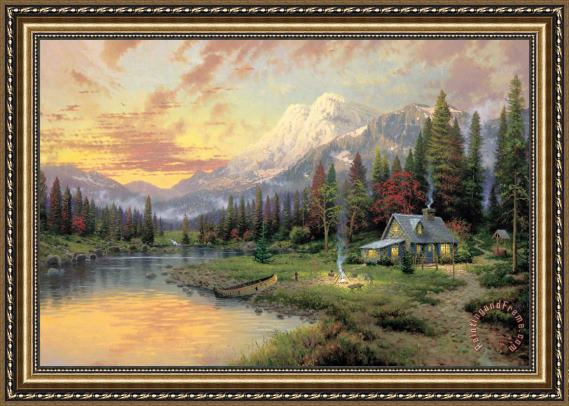 Thomas Kinkade Evening Majesty Framed Painting