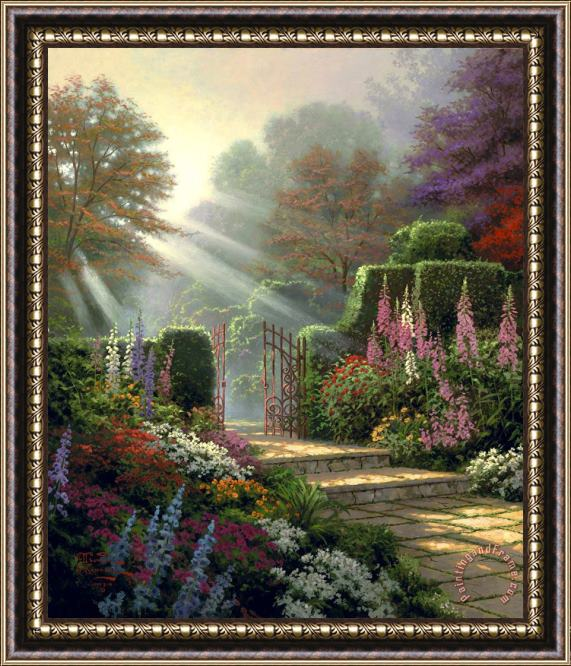 Thomas Kinkade Garden of Grace Framed Print